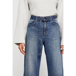 Free People Jeans - Free People Ringer Wide Leg Denim Trouser
